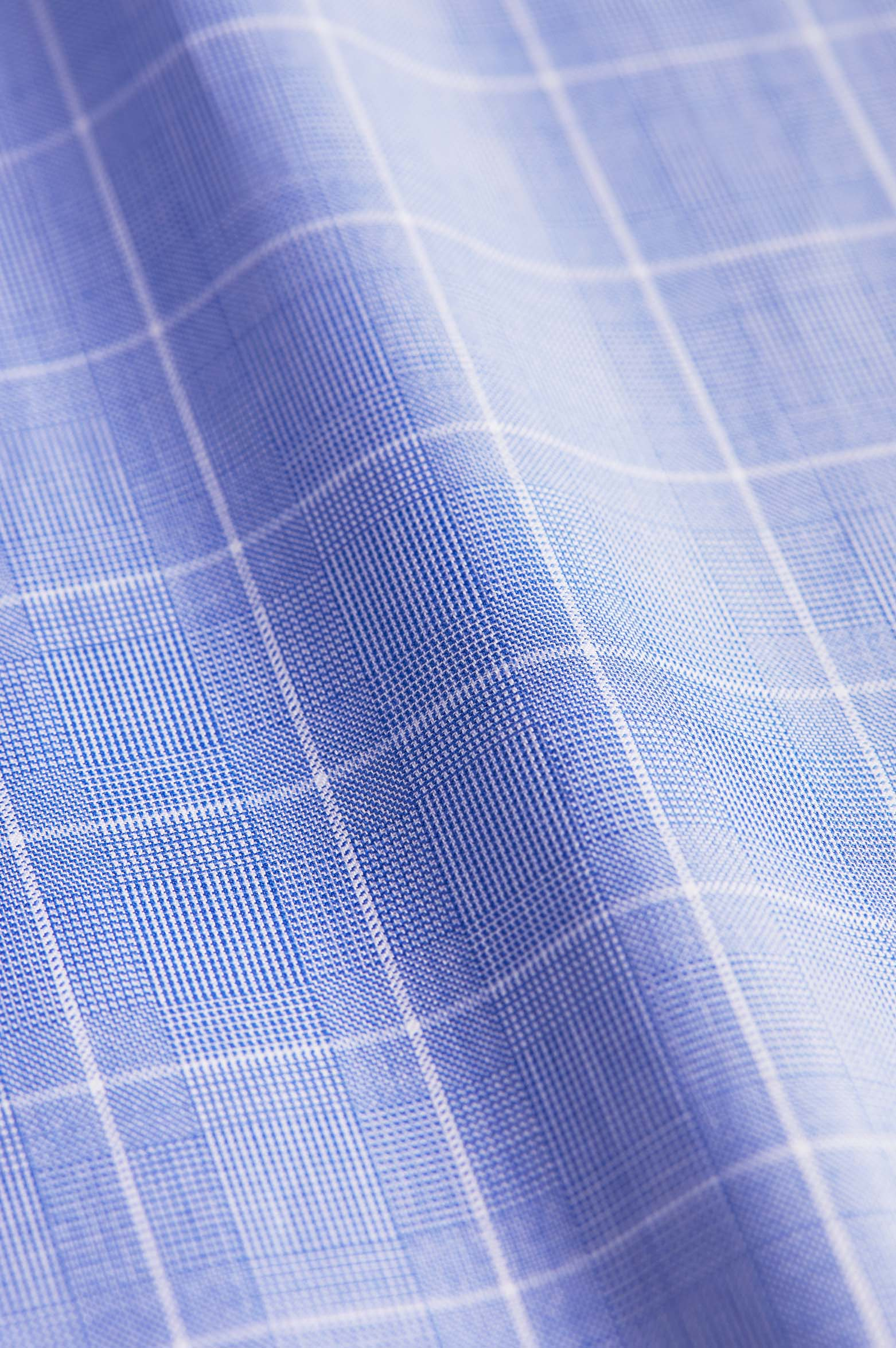 Wide Spread Classic Fit Blue Check