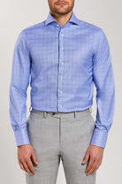 Slim Fit Blue Check