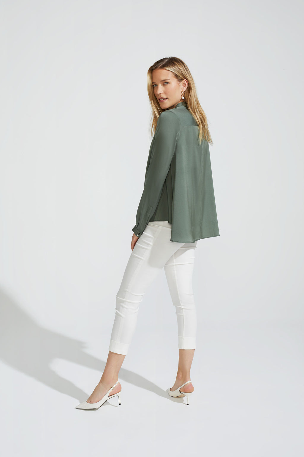 A-shape Silk Stretch Blouse