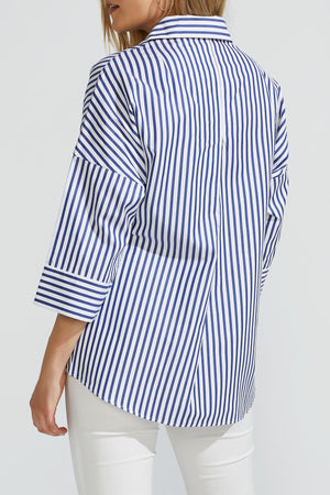 Oversized Striped Blouse