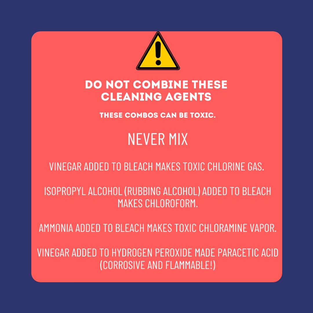 Toxic cleaning combinations: Please be cautious!