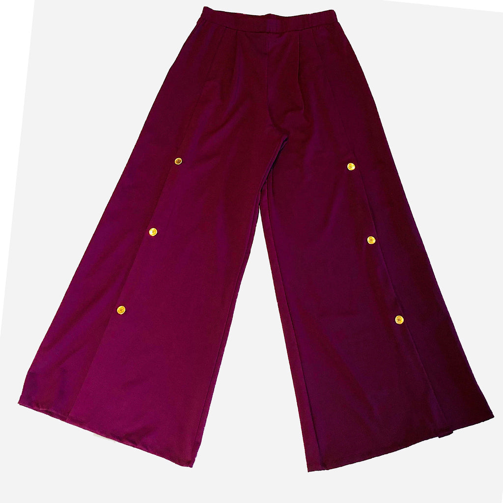 UPF Wide Leg Pant with Button Detail - AMBERNOON