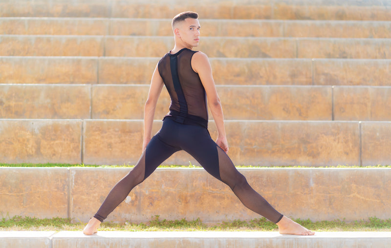 high cut mesh leggings by Opra Dancewear made for dancers, pilates, yoga, and gym workouts alike!