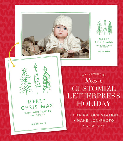 How To Customize Your Letterpress Holiday Card
