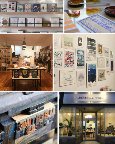Albertine Press - Letterpress and Stationery Shop in Cambridge, MA
