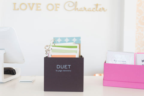 DUET Collection is carried by Love of Character.