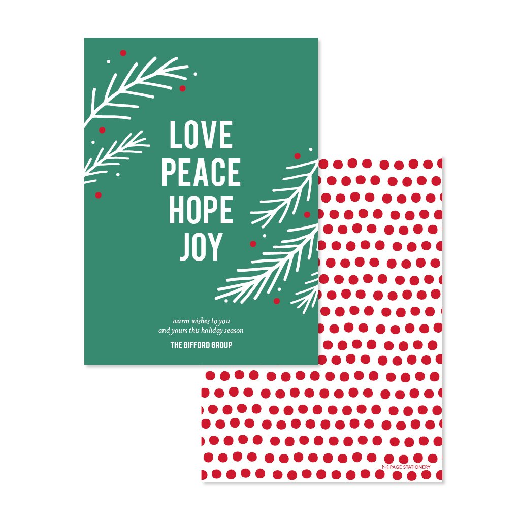 Holiday | LOVE PEACE Evergreen