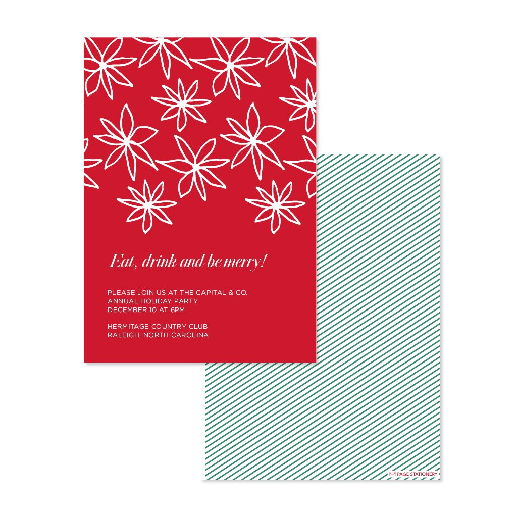Holiday | Poinsettia Holiday Party Invitation