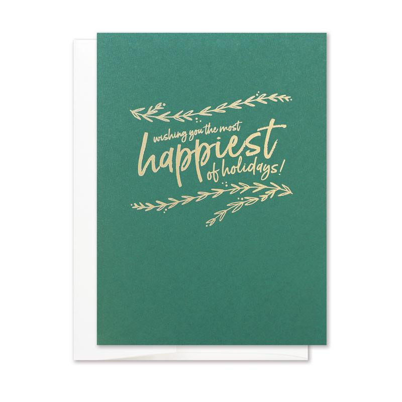happiest of holidays holiday card set page stationery
