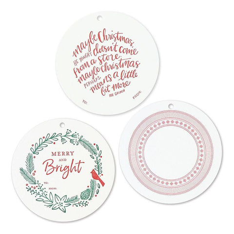 Round Holiday Assorted | Gift Tags
