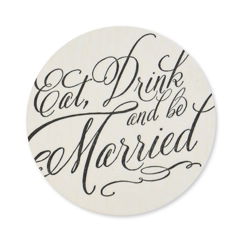 Eat Drink & Be Married No. 2 Coasters