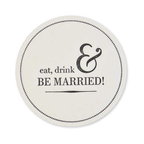 Eat Drink & Be Married No. 1 Coasters