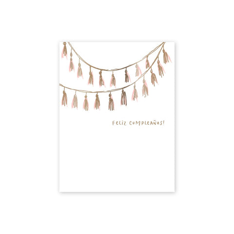 Feliz Cumpleanos Tassels | Single Card