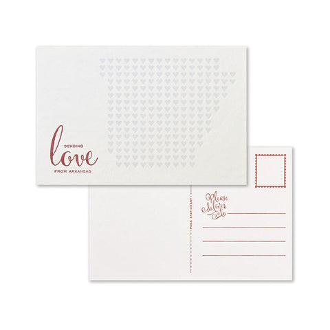 Sending Love Postcard Set | Arkansas