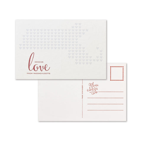 Sending Love Postcard | Massachusetts