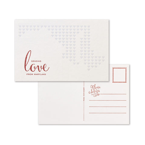 Sending Love Postcard | Maryland