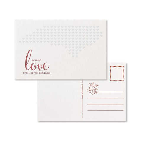 Sending Love Postcard Set | North Carolina