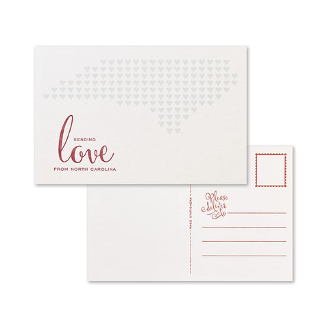 Sending Love Postcard | North Carolina