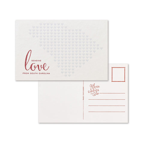 Sending Love Postcard | South Carolina