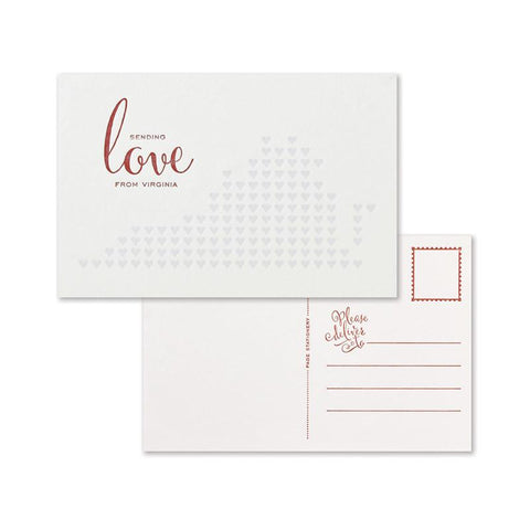 Sending Love Postcard Set | Virginia