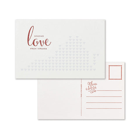 Sending Love Postcard | Virginia