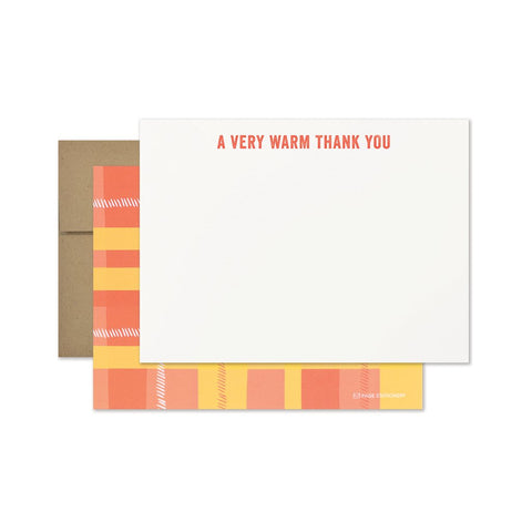 Warm Thank You | Plaid