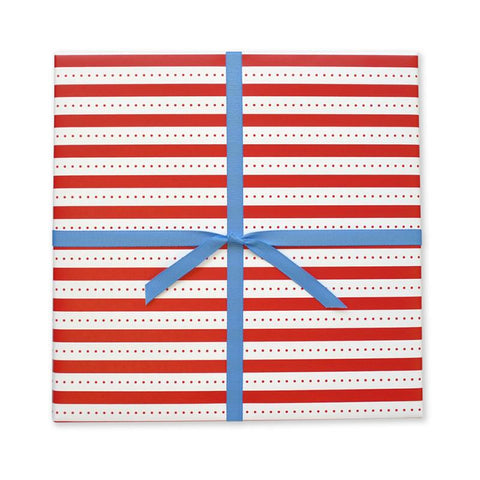 Red Stripe + Dot Gift Wrap