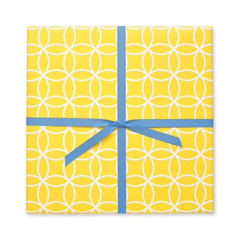 Yellow Infinity Circles Gift Wrap