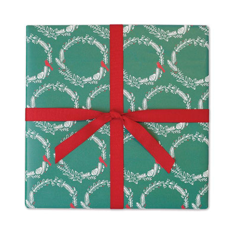 Holiday Wreath | Gift Wrap Roll