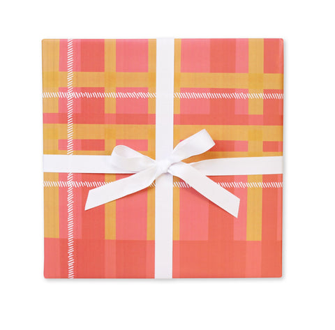 Plaid Blanket Gift Wrap