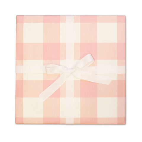 Blush | Gingham Gift Wrap