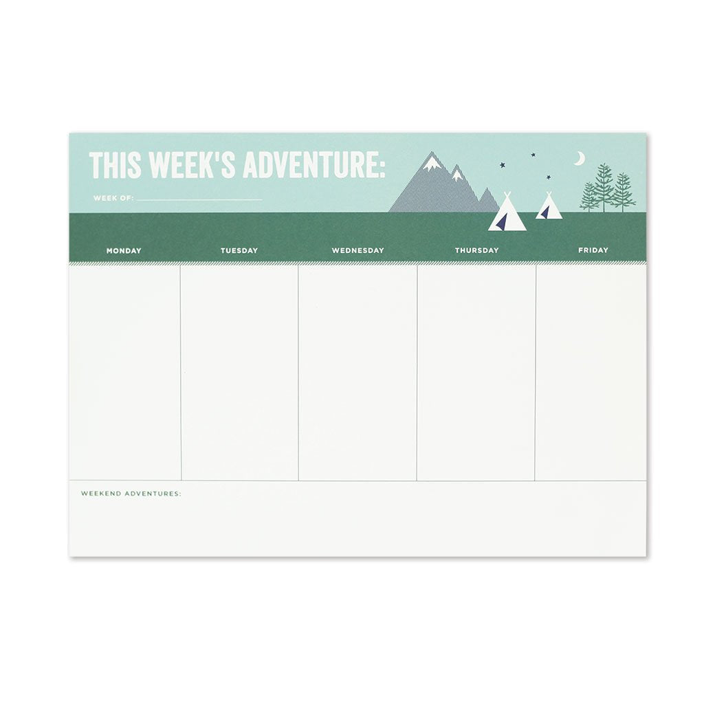 Weekly Adventure Desk Pad