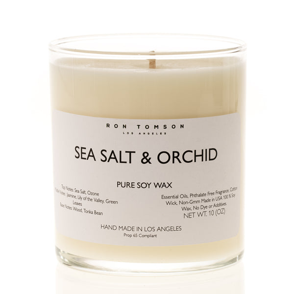 Pure Soy Wax Candle - Sea Salt & Orchid - Ron Tomson