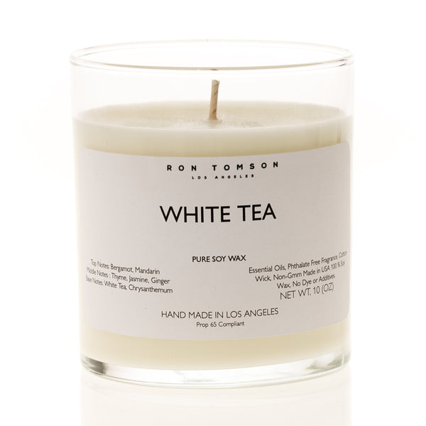 Pure Soy Wax Candle - White Tea - Ron Tomson