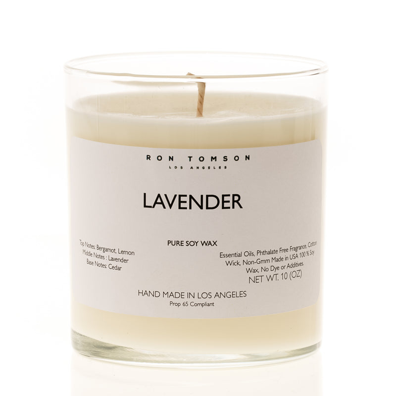 Pure Soy Wax Candle - Lavender - Ron Tomson
