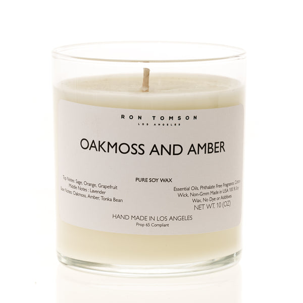 Pure Soy Wax Candle - Oakmoss and Amber - Ron Tomson