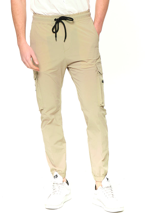 Side Zip-Pocket Track Pants - STONE - Ron Tomson