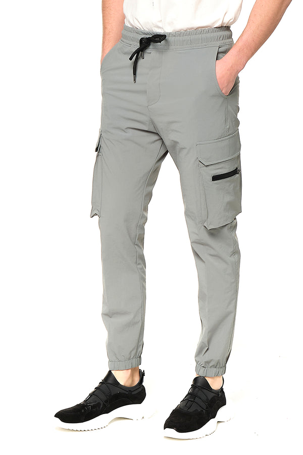 Side Zip-Pocket Track Pants - TEAL - Ron Tomson