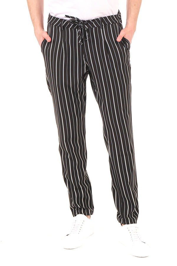 2622-BLACK STRIPE PANTS - Ron Tomson