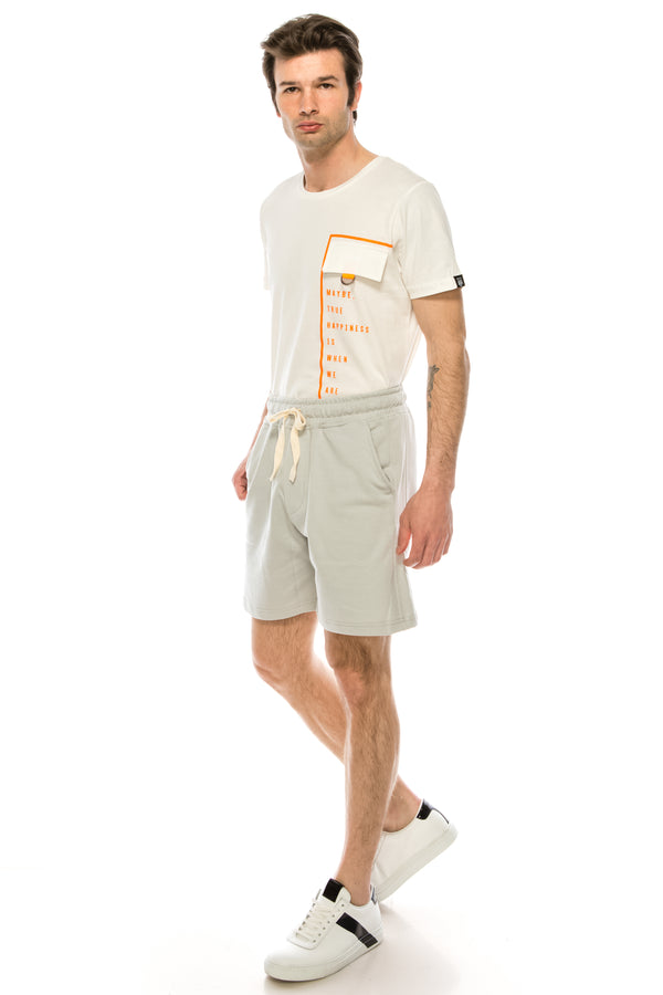 Weekender Cotton Shorts - STONE - Ron Tomson