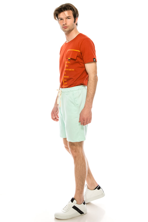 Weekender Cotton Shorts - MINT - Ron Tomson