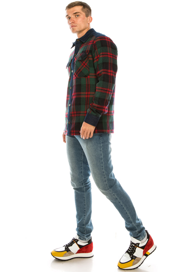 Lumberjack Shirt Jacket - Green Red - Ron Tomson