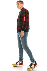 Lumberjack Varsity Jacket - Green Red - Ron Tomson