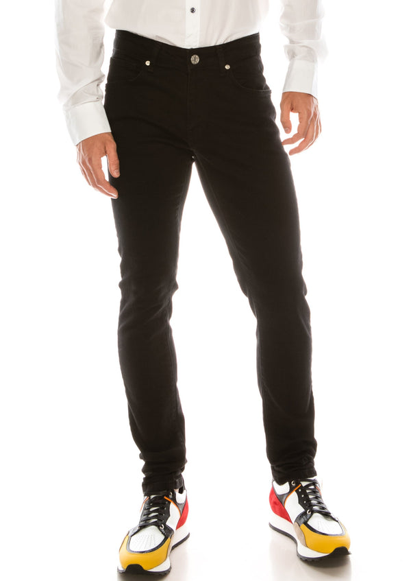 RT Inner Red Skinny Denim - Black - Ron Tomson