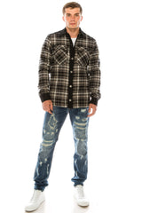 Lumberjack Shirt Jacket - Black White - Ron Tomson