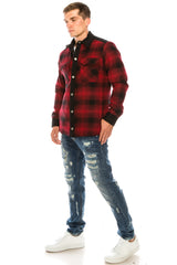Lumberjack Shirt Jacket - Black Red - Ron Tomson