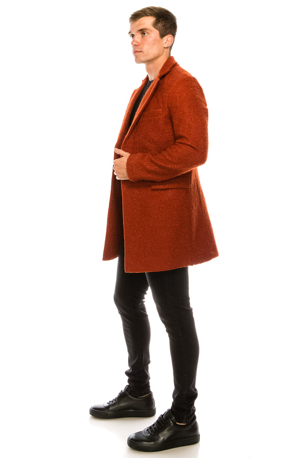 Boucle Coat - Orange - Ron Tomson
