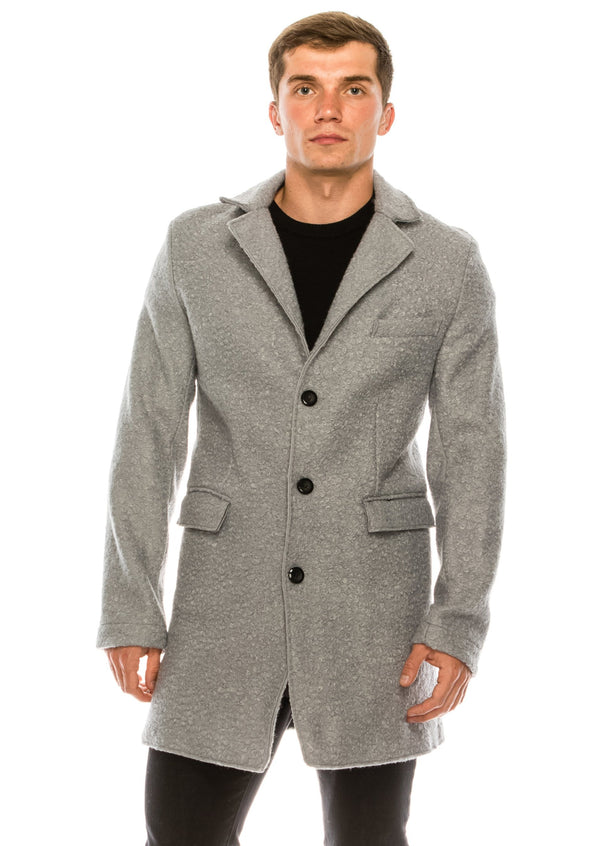 Boucle Coat - Light Grey - Ron Tomson