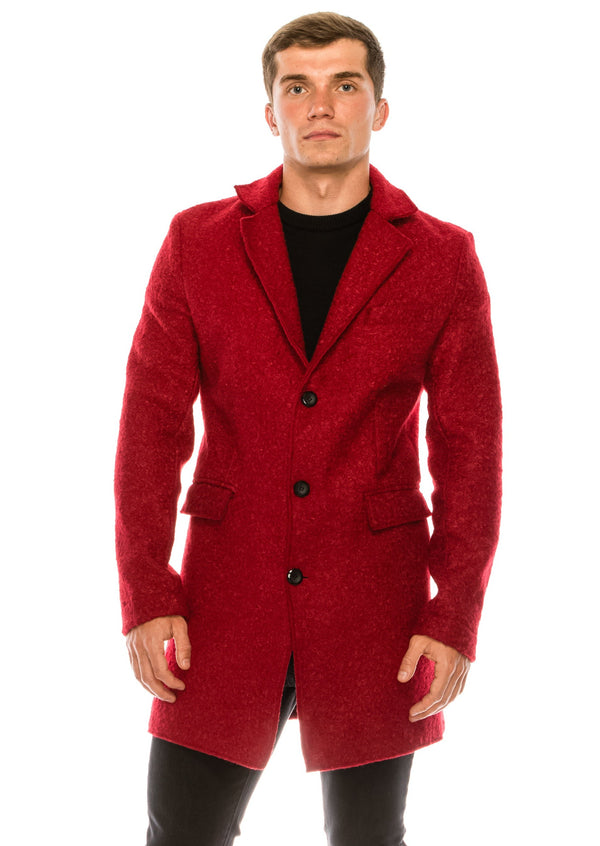 Boucle Coat - Red - Ron Tomson