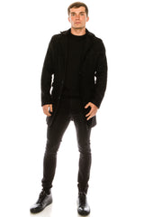 Boucle Coat - Black - Ron Tomson